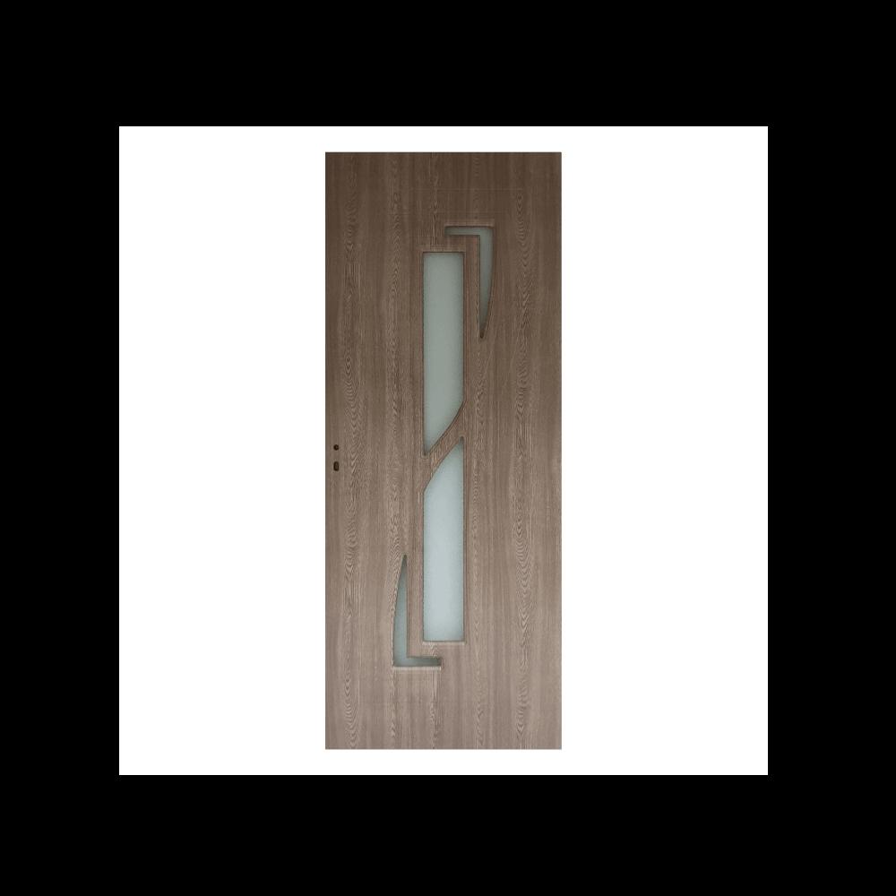 Usa interior cu geam Pamate M042, gri, 203 x 60 x 3,5 cm + toc 10 cm, reversibila imagine MatHaus.ro