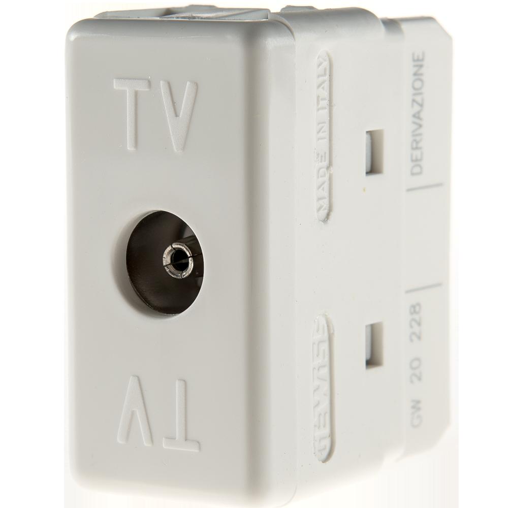 Priza TV SYSTEM alb, Gewiss GW20228, 1 modul mathaus 2021