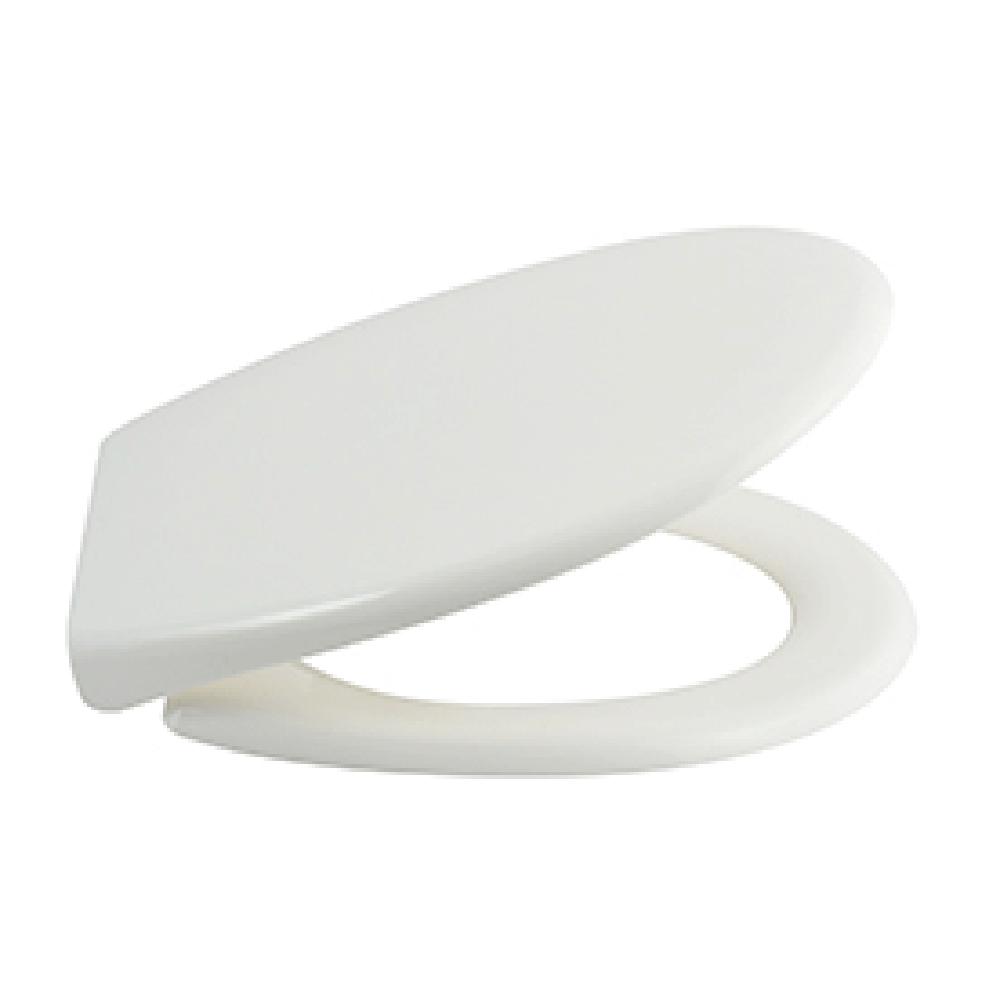 Capac WC Romtatay Tribeca, polipropilena, sistem Easy Close, alb, 44,5 x 36,5 x 5 cm