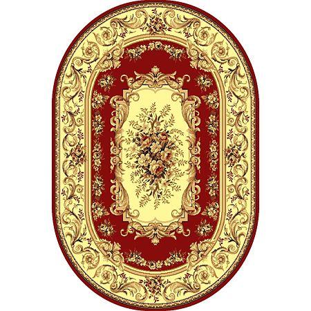 Covor clasic Gold 235/22, polipropilena BCF, bej-maro si rosu, 80 x 150 cm