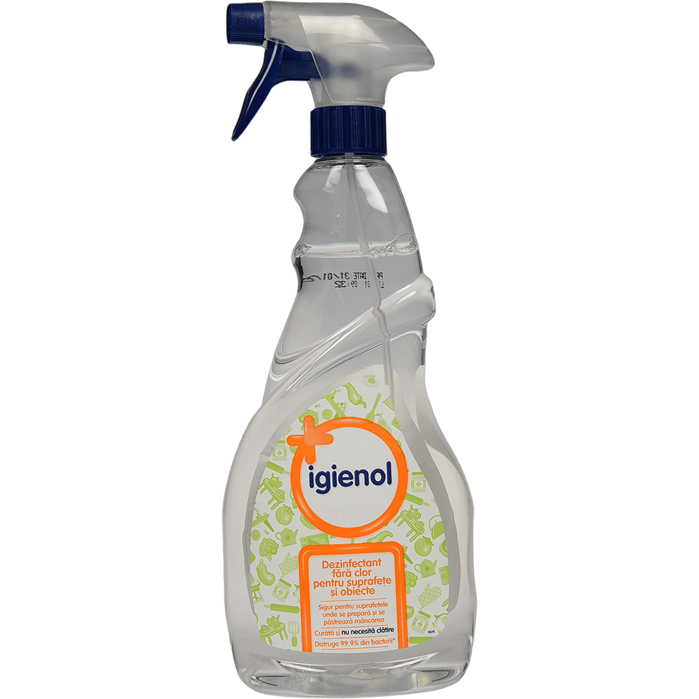 Dezinfectant Igienol spray fara clor pentru suprafete si obiecte 750ml imagine MatHaus.ro