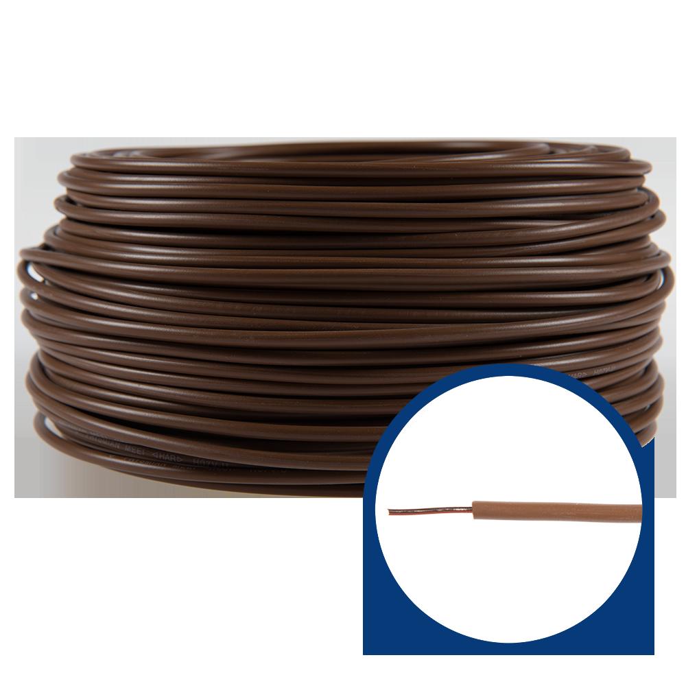 Cablu electric FY (H07V-U) 2.5 mmp, izolatie PVC, maro imagine 2021 mathaus