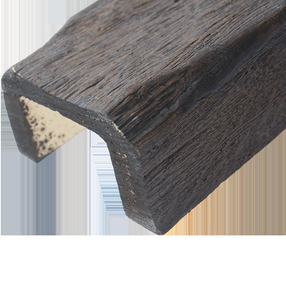 Grinda poliuretan Decosa, aspect de lemn, maro inchis, 6 x 9 x 200 cm