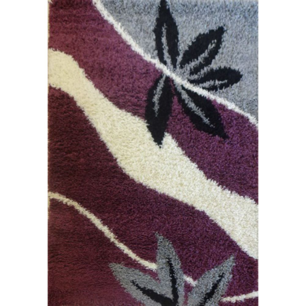 Covor modern Shagy Paris 914, polipropilena friese, model abstract gri, lila, 80 x 150 cm imagine MatHaus