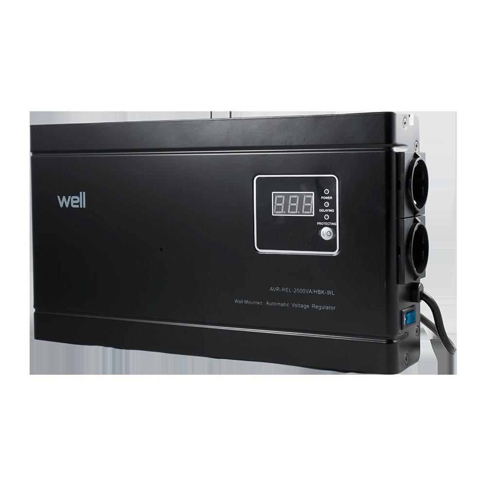 Stabilizator Automat de Tensiune- 2000VA/1200W, negru imagine MatHaus