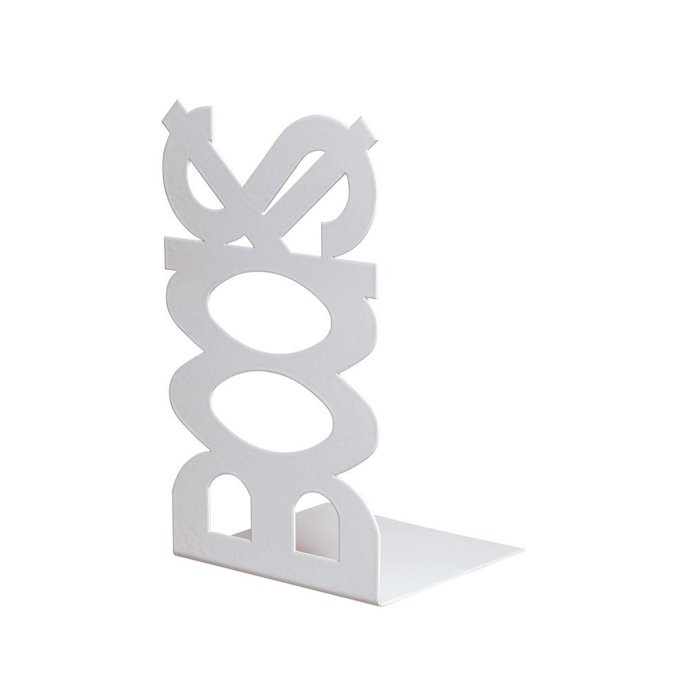 Suport pentru carti BOOKS, alb, 120 x 110 x 210 mm mathaus 2021