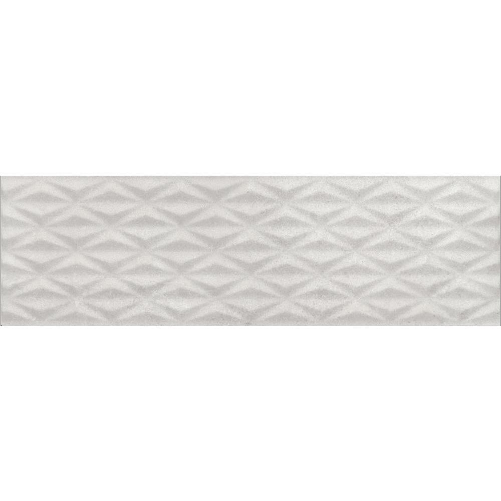 Faianta RAK Ceramics Metropol, gri deschis, aspect de piatra cu forme de romburi, mata, 30 x 100 cm imagine 2021 mathaus