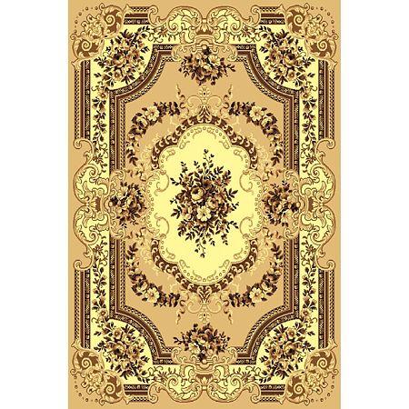Covor clasic Gold 047/12, polipropilena BCF, bej-maro, 60 x 110 cm