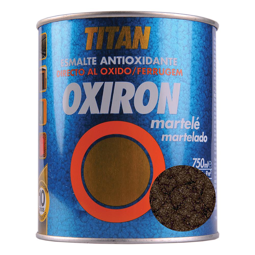 Email metal Titan Oxiron, lovitura de ciocan, maro, interior/exterior/, 0,75 l imagine MatHaus
