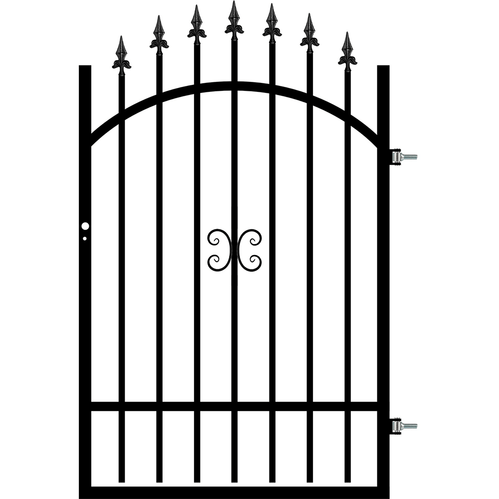 Poarta cu deschidere dreapta Tina, otel, RAL9005, 0,9 x 1,3 - 1,5 m imagine MatHaus