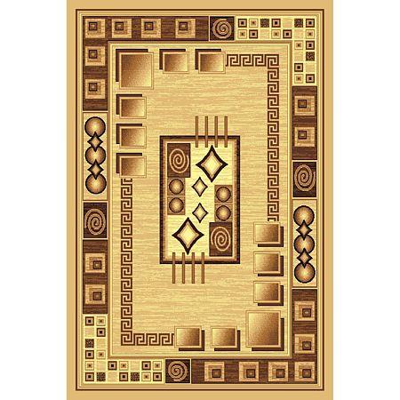 Covor clasic Gold 364/12, polipropilena BCF, bej-maro, 160 x 225 cm