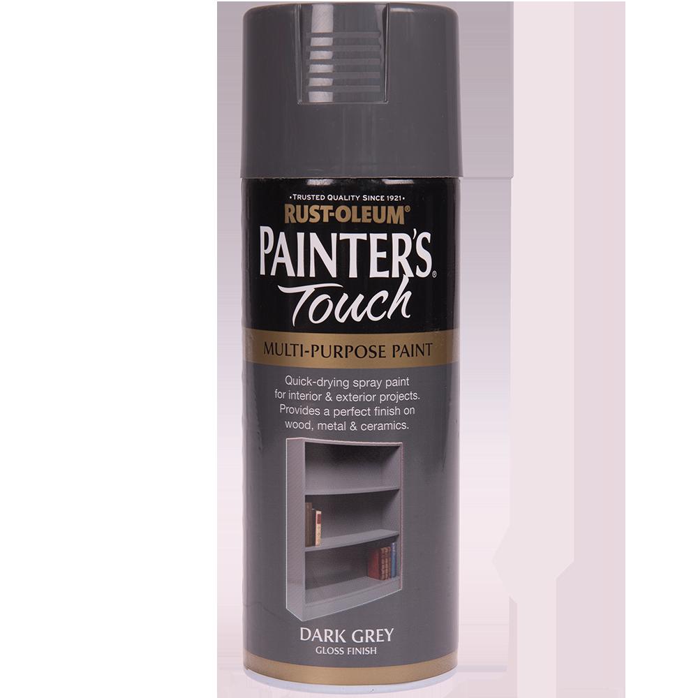 Spray Rust-Oleum Painter`s Touchs, lucios, gri inchis, 400 ml imagine 2021 mathaus