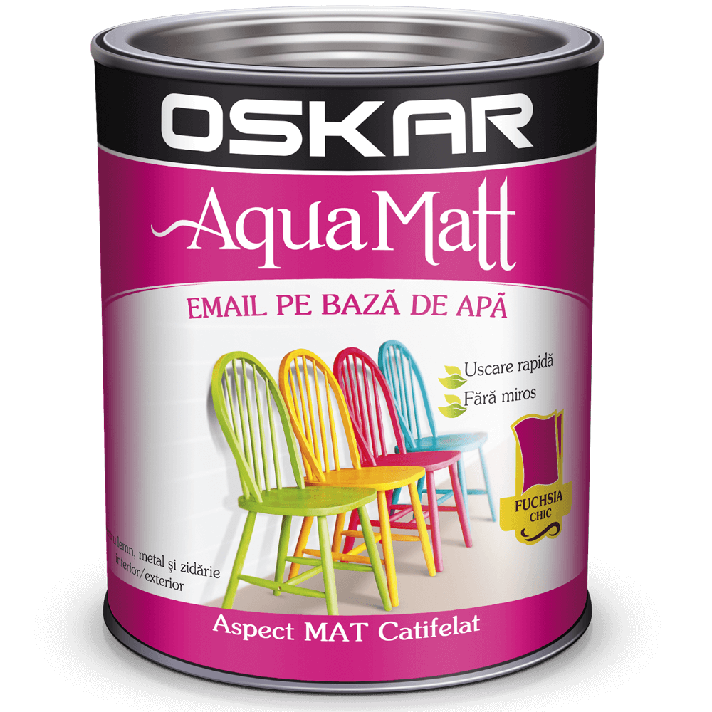 Email Oskar Aqua Matt fucsia 0,6 L imagine 2021 mathaus