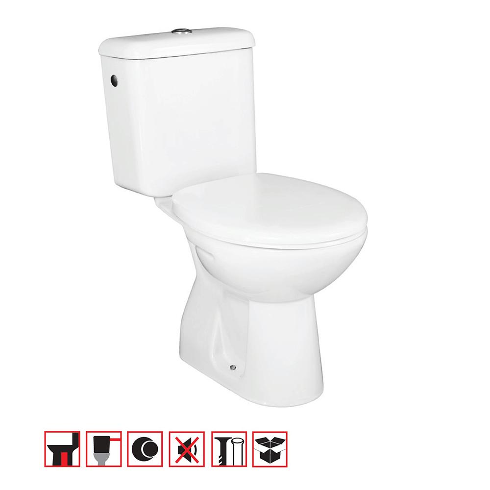 Set vas WC, rezervor, mecanism, capac Roca Combo Neo, 35,5 x 77,5 x 65 cm imagine 2021 mathaus