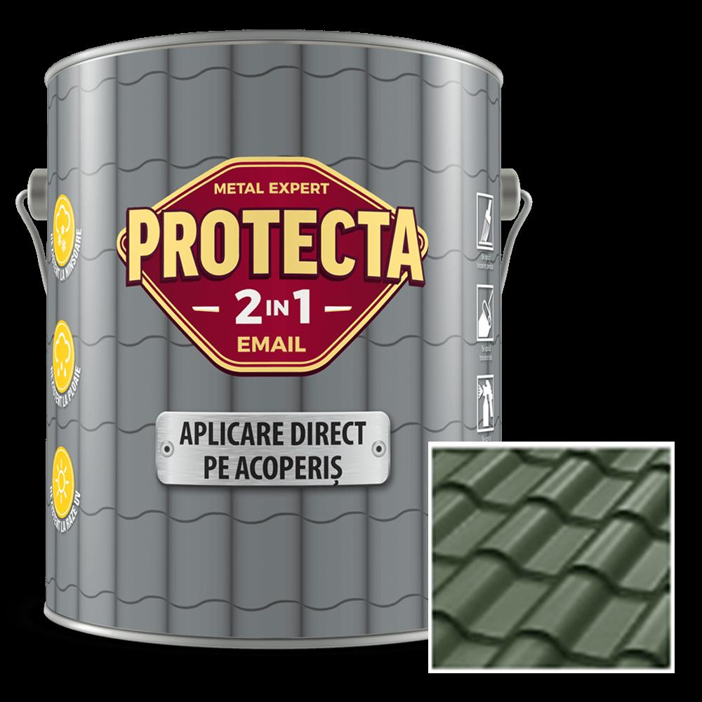 Email pentru acoperis Protecta 2 in 1, verde inchis, 4 l