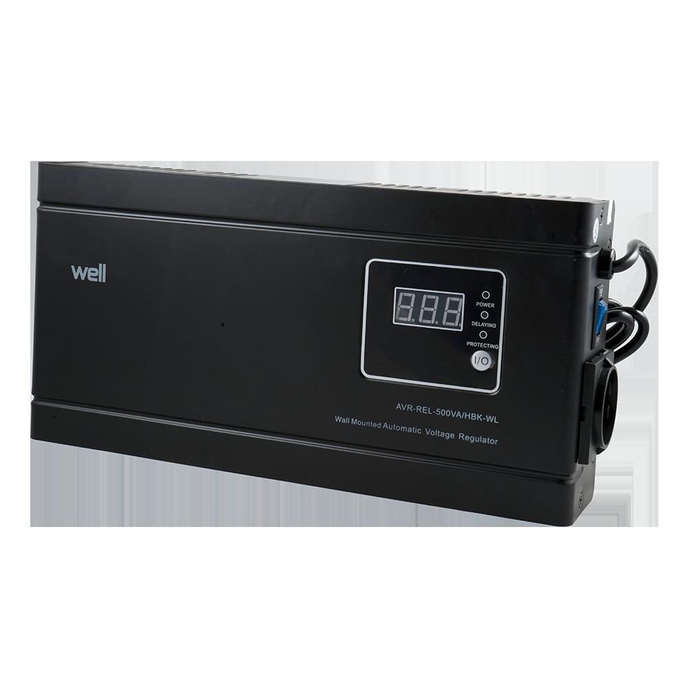 Stabilizator de tensiune cu releu, putere 500VA/300W, tensiune intrare 140-260V AC imagine MatHaus