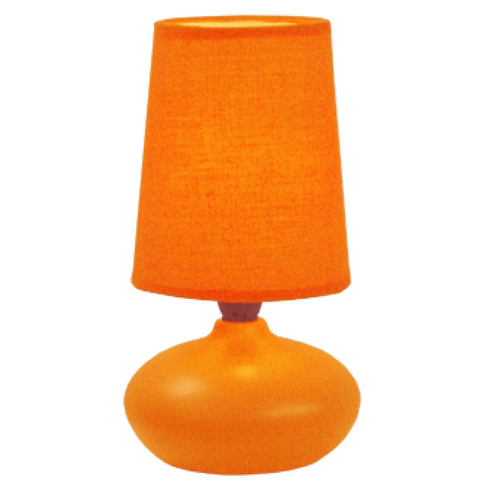 Veioza Oscar KL 0511, ceramica, portocalie, 1 x E14, 40W, 226 mm imagine 2021 mathaus