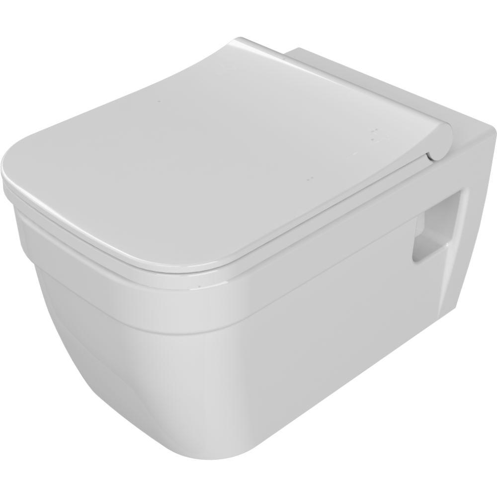 Vas WC suspendat Menuet Noura, portelan, evacuare laterala, alb imagine MatHaus.ro