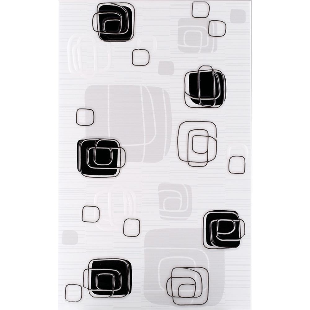 Faianta decorativa Kai Ceramics Linea Black Lux negru, finisaj estetic, lucioasa, 25 x 40 cm