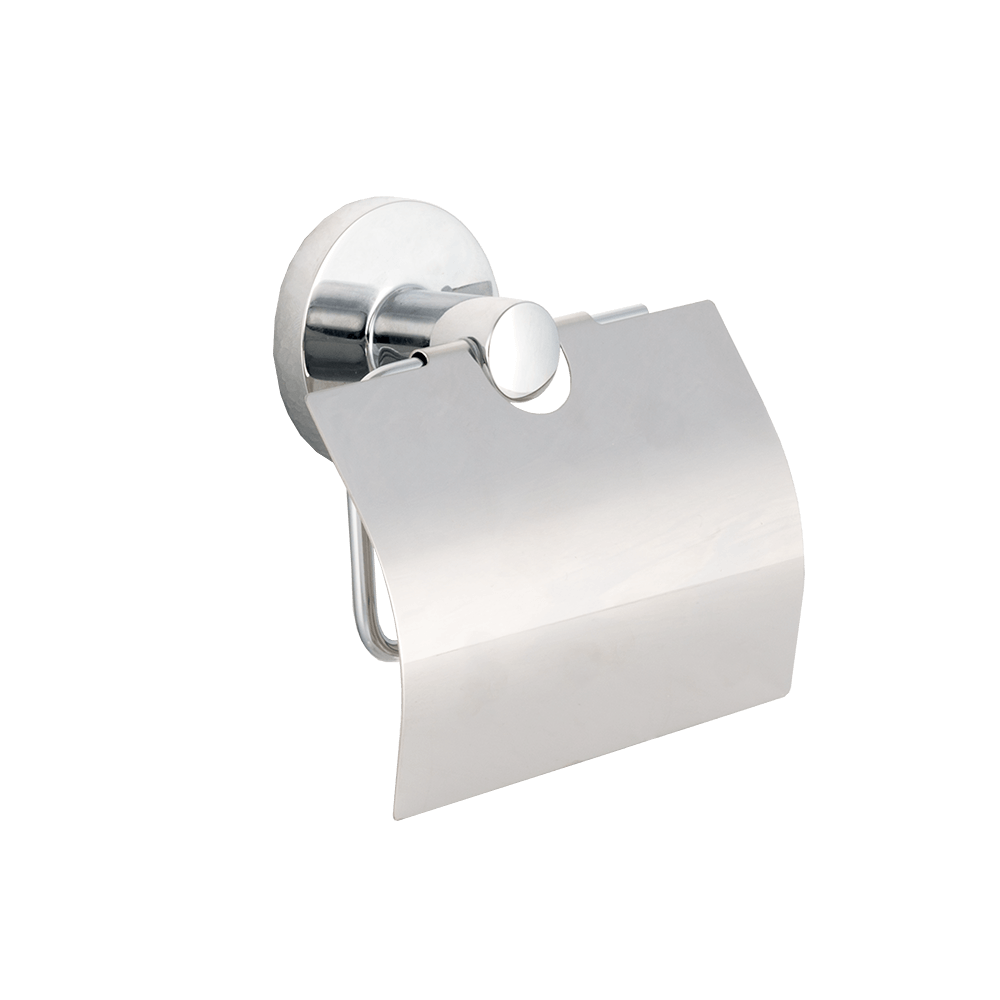 Suport hartie igienica cu aparatoare, metal, argintiu