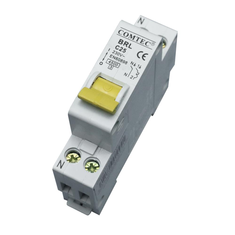 Intrerupator automat MCB 1M 4.5Ka 25/1N/C Comtec imagine MatHaus.ro