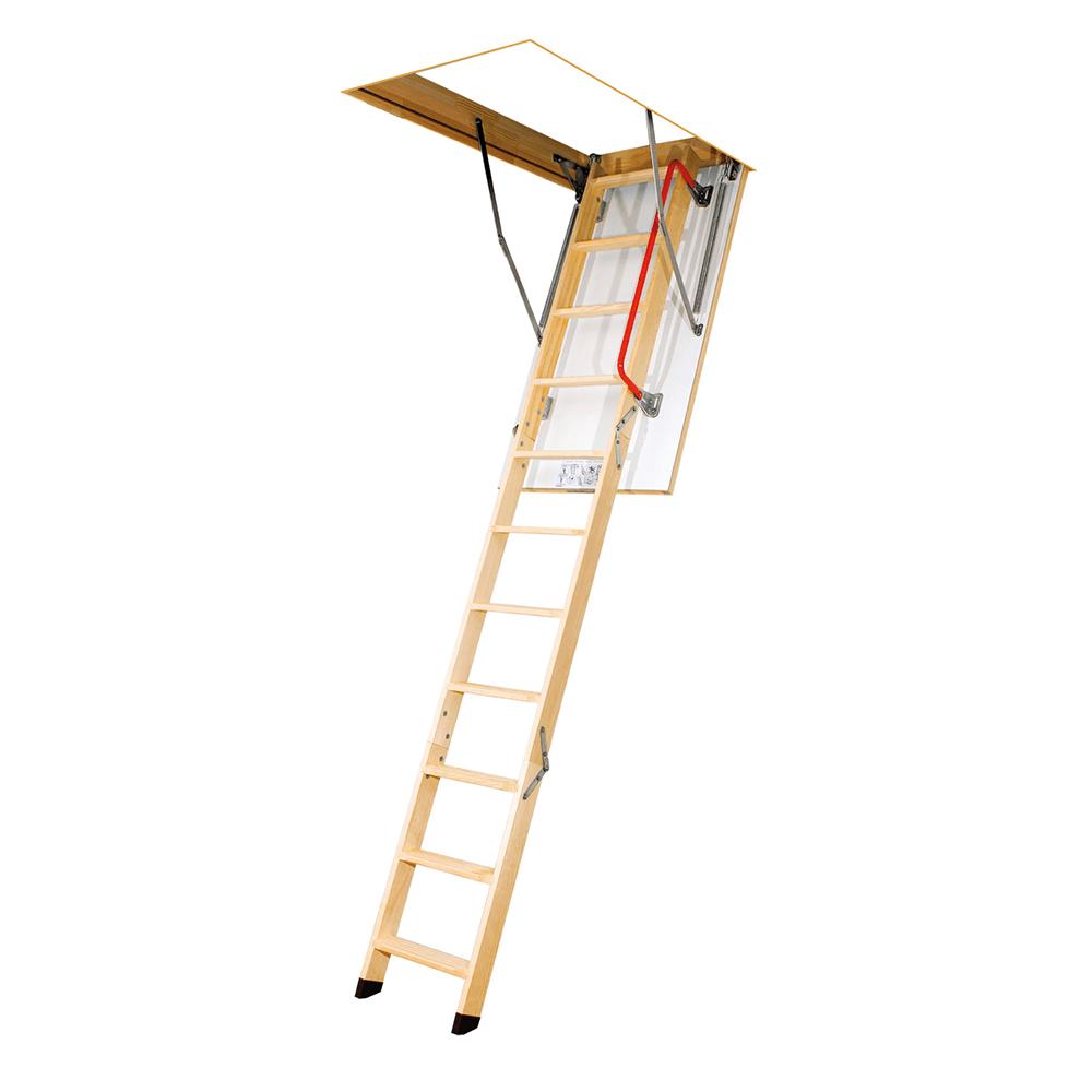 Scara mansarda termoizolata, retractabila, lemn, 60 x 120 x 280 cm
