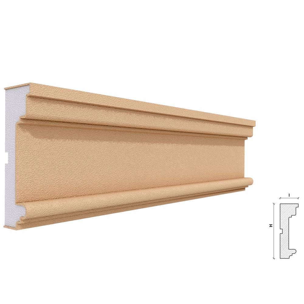 Ancadrament Akfix FP118, polistiren EPS + rasina, 120 x 40 x 2000 mm mathaus 2021