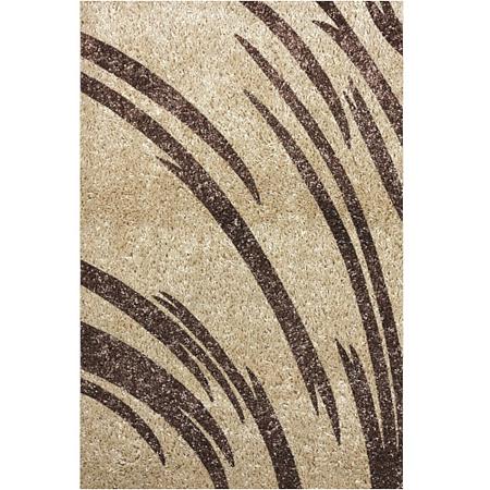 Covor modern Fantasy 12501/89, polipropilena-friese, maro-bej, 100 x 200 cm