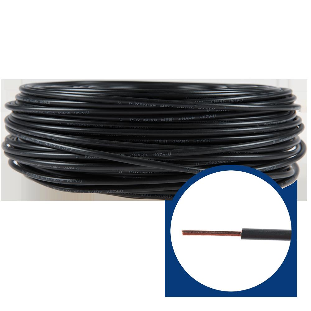 Cablu electric FY/ H07V-U 6 mm negru