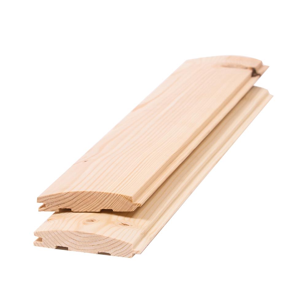 Lambriu lemn semirotund, 96 x 18 x 4000 mm; CL.AB imagine 2021 mathaus