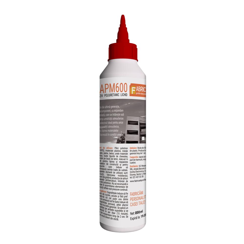 Adeziv poliuretanic RAPM600, gel, 800 ml, bej mathaus 2021