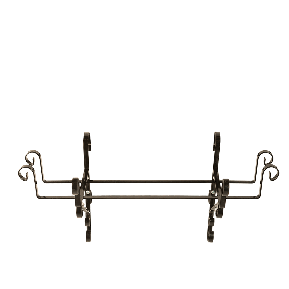 Suport jardiniera, 50 cm, fier forjat, negru, model artizanal