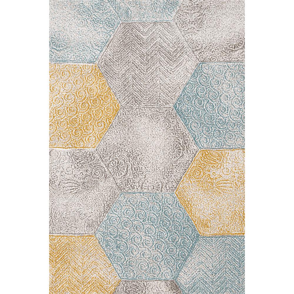 Covor modern Sintelon Vegas Home 35VYK, polipropilena, model geometric multicolor, 80 x 150 cm imagine 2021 mathaus