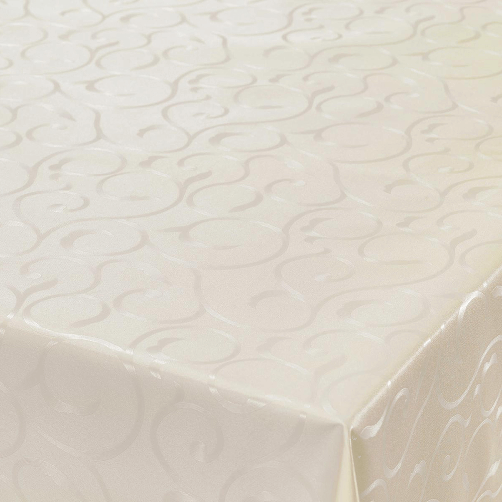 Fata de masa, model in relief, pvc, alb, 140 cm mathaus 2021
