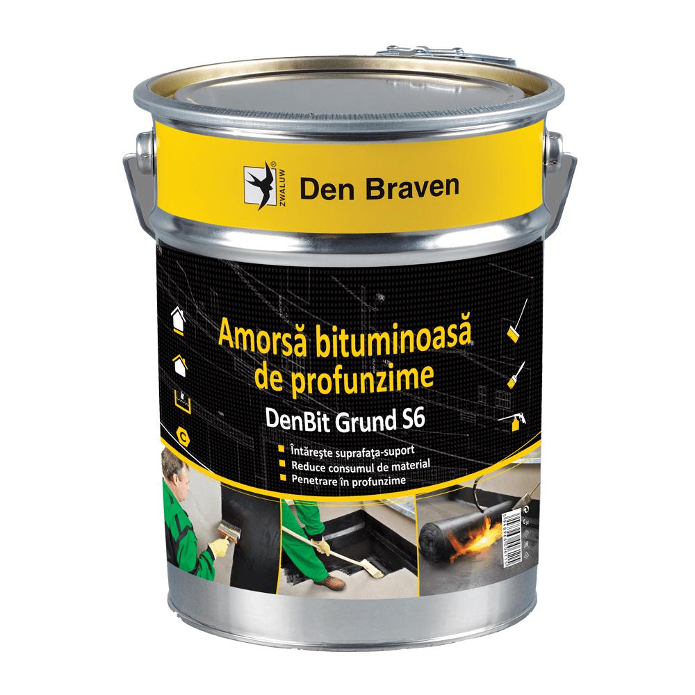 Amorsa bituminoasa, Den Braven Bit Grund S6, neagra, 9 kg mathaus 2021