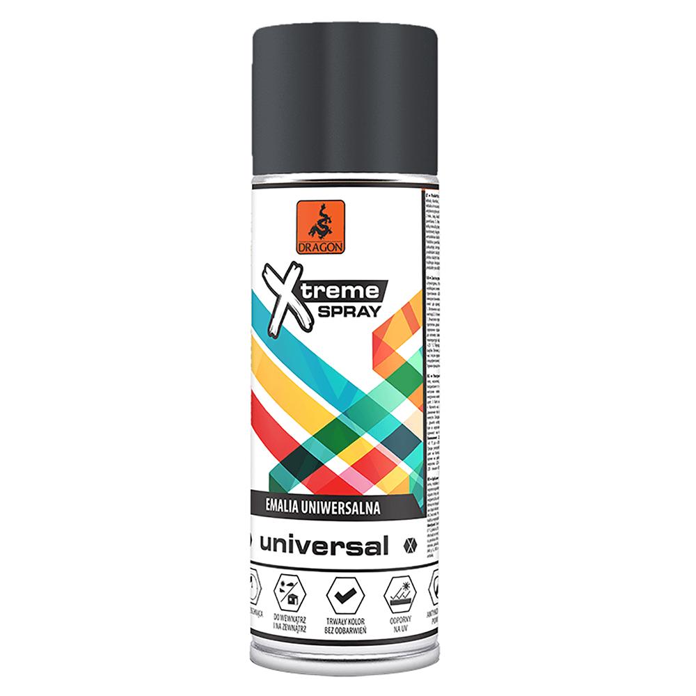 Vopsea spray universala X-Treme, negru RAL 9017, 400 ml
