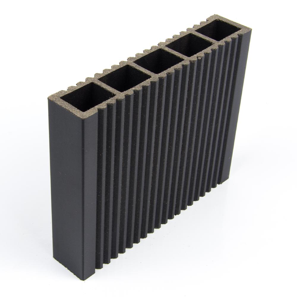 Profil gard  WPC, gri, 24 x 120 x 2000 mm