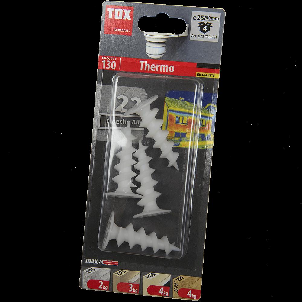 Diblu autoforant Thermo A-ISOL, pentru placi izolatoare, Ø 19 mm, L 50 mm, 4 buc imagine MatHaus