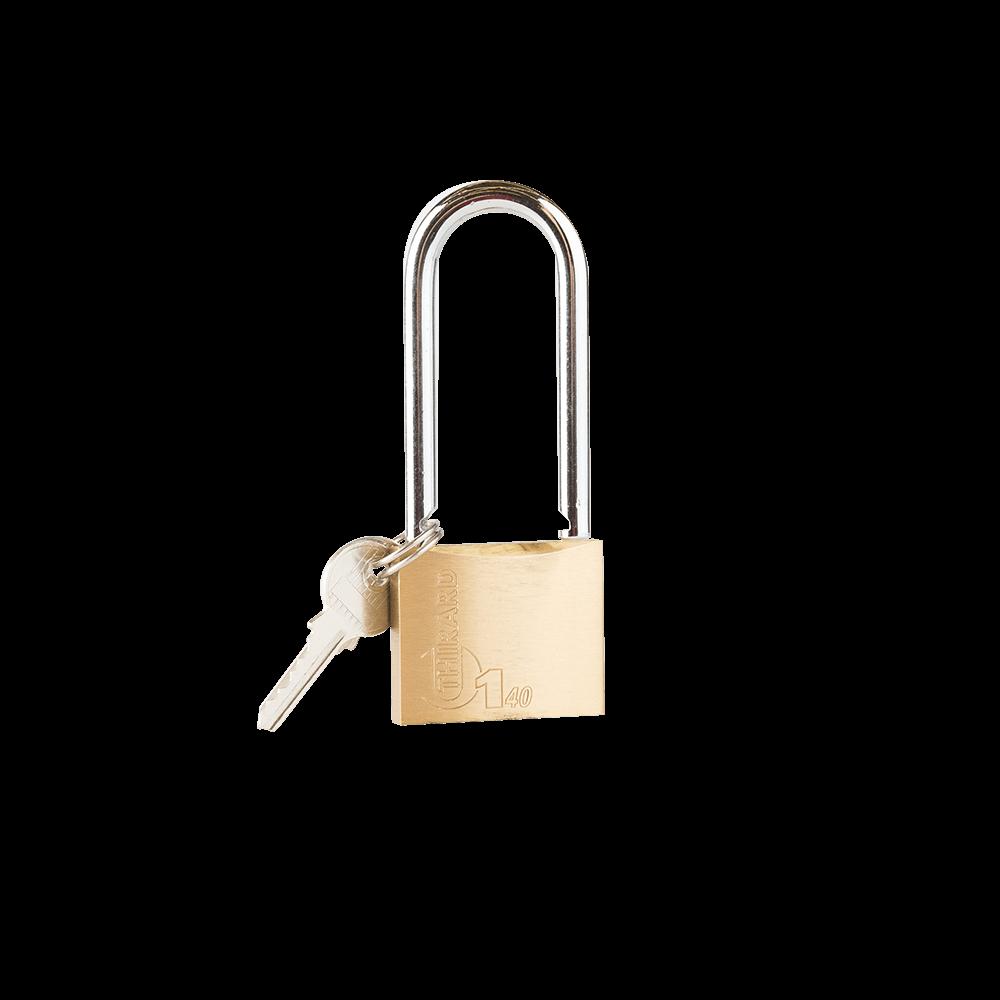 Lacat din alama, Thirard Type 1, l 40mm, veriga inalta, 2 chei mathaus 2021