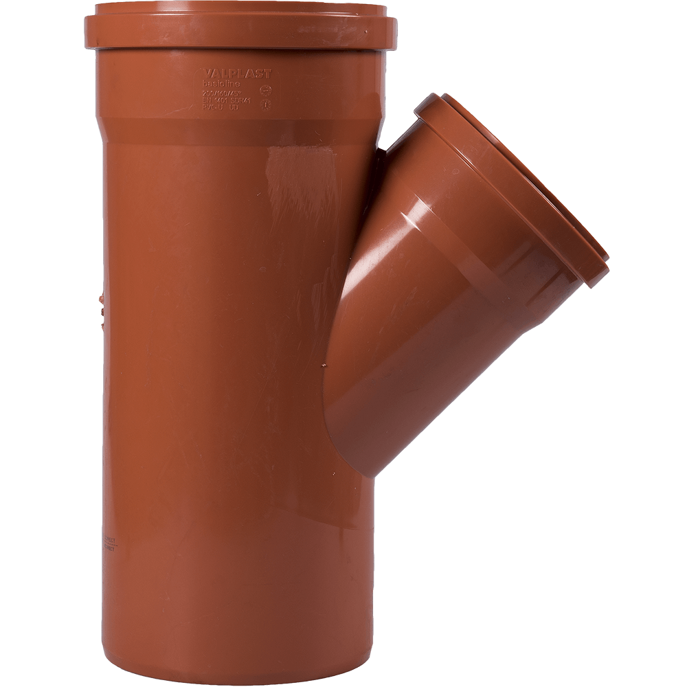 Ramificatie pentru canalizarea exteriorara Valplast, PVC, 45 grade, 200 x 160 mm