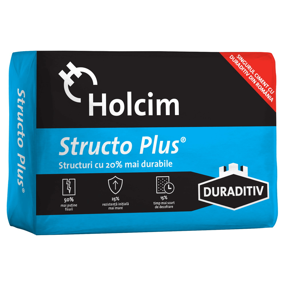 Ciment Holcim Structo Plus, 40 kg mathaus 2021