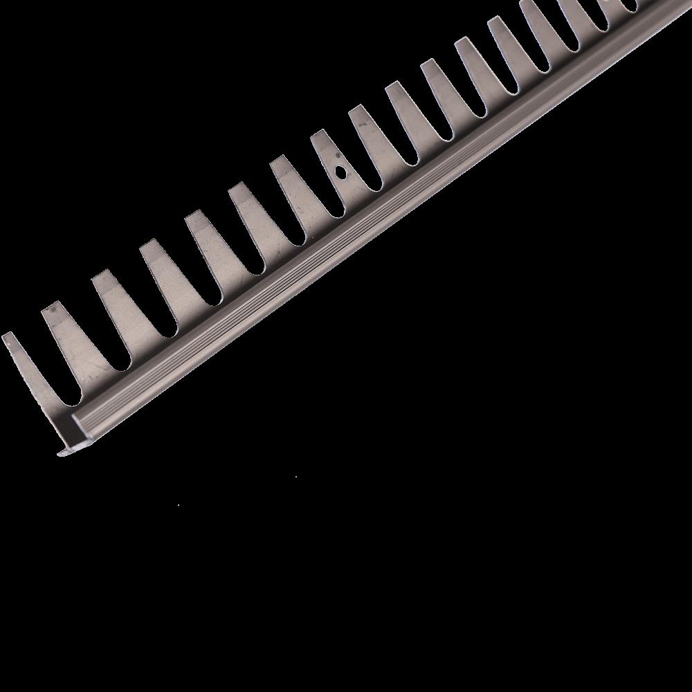 Profil pentru treapta din aluminiu indoibil Set Prod S91 cu latime 25 mm, masliniu, 2,5 m imagine 2021 mathaus