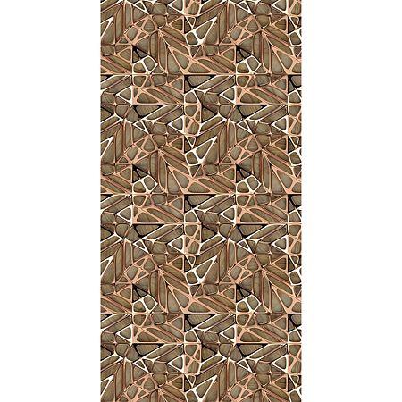 Covor modern Kitchen Wood, poliester, model geometric, 70 x 140 cm