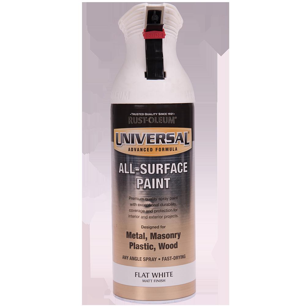 Spray Universal all-surface matt alb 400 ml
