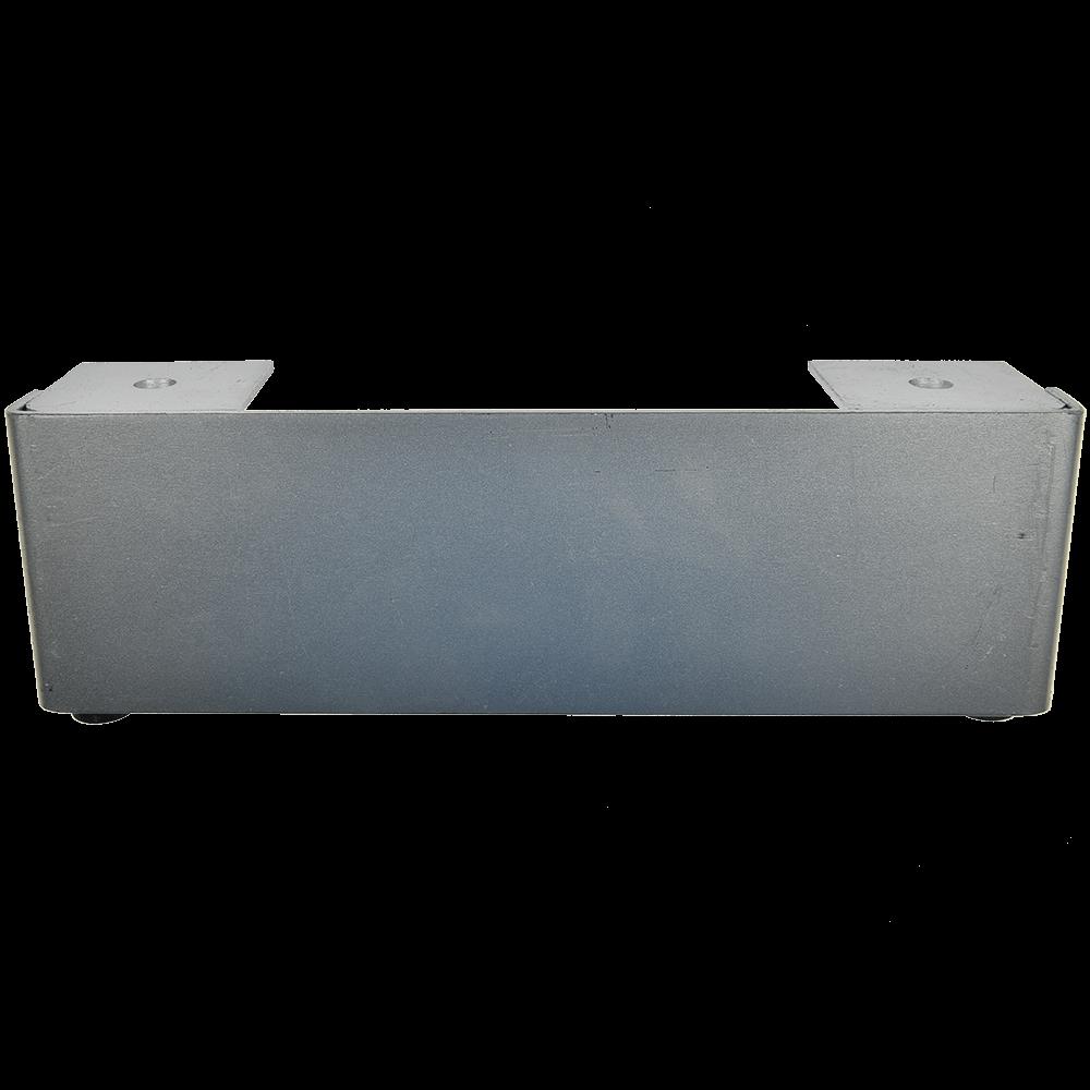 Picior plat pentru canapea, metal cromat mat,  L: 240 mm, H: 80 mm imagine MatHaus.ro
