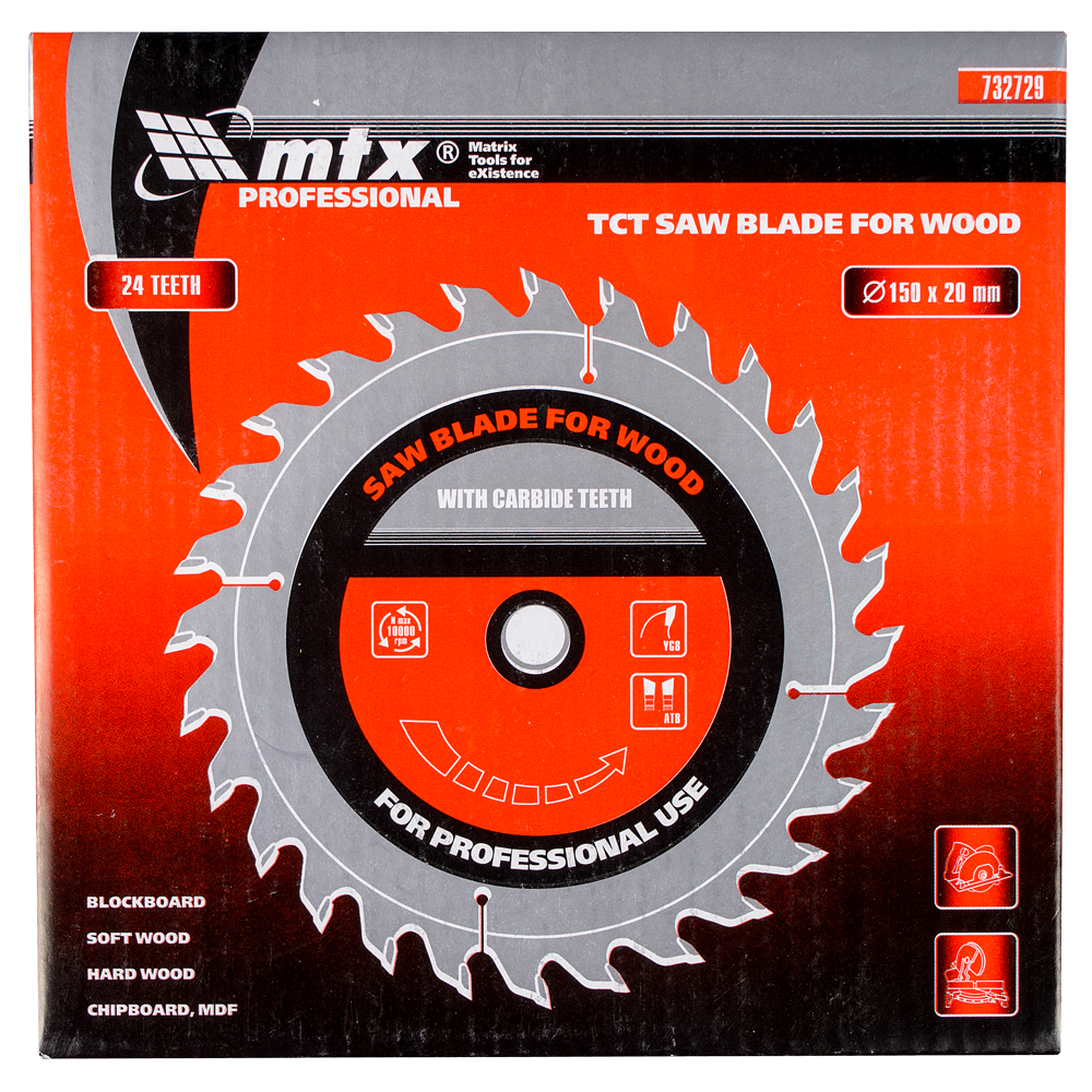 Disc Lemn 150 X 20 mm 24 Dinti Mtx Pro