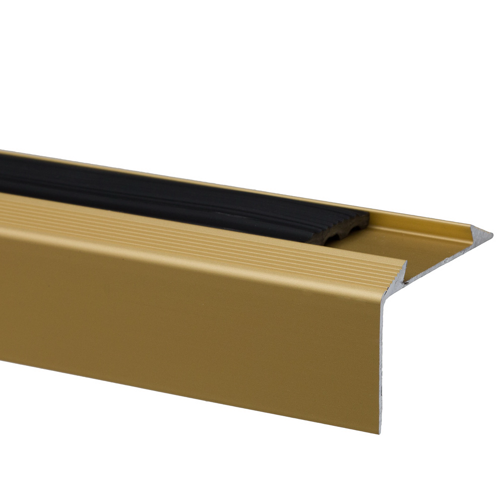 Profil treapta cu banda antiderapanta S38, Set Prod, auriu 46 mm x 2,7 m imagine 2021 mathaus