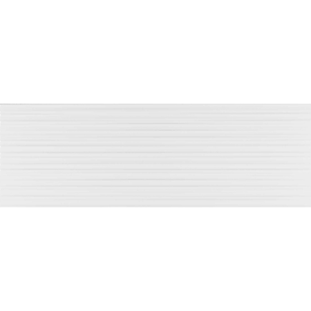 Faianta Kai Ceramics white mat lines, aspect uni, dreptunghiulara , 25.5 x 75.5 cm