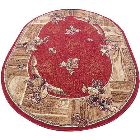 Covor clasic Gold 300/22, polipropilena BCF, rosu, 50 x 80 cm