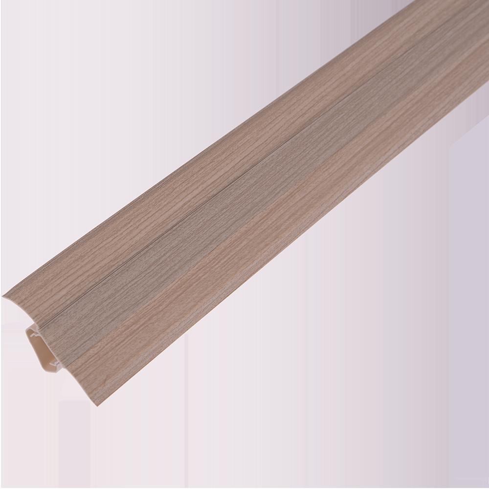 Plinta parchet, cu canal dublu, PVC, frasin, 2500x55x22.5 mm imagine MatHaus